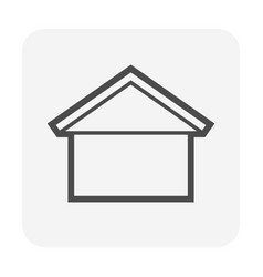 Roof shape for house icon design vector
