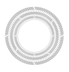 Round frame of black and white herringbone border vector