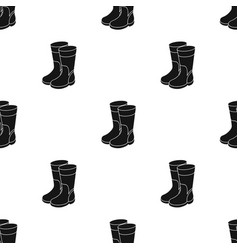 rubber boots icon in black style isolated on white vector image