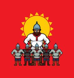 Russian warrior vector