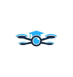 school drone logo icon design vector image