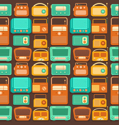 Seamless pattern nostalgia vector