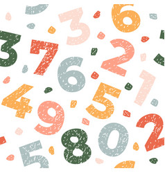 seamless pattern with numbers abstract texture vector image