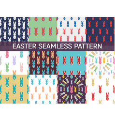 set of 12 seamless pattern easter greeting with vector image