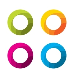 Set of abstract circle logo template vector image