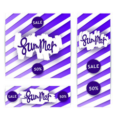Set of creative summer sale banners vector