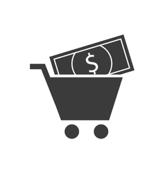 shopping cart finance icon vector image