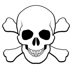 Skull and crossbones vector