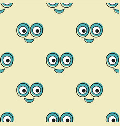 smile pattern background texture doodle vector image