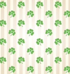 St patricks days clovers pattern vector