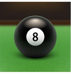 stock raster eight ball 3d vector image