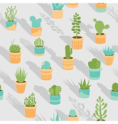 Succulents vector image