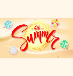 Summer beach seashore for touristic events travel vector