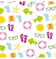 Summer set isolated icons vector