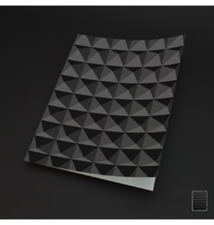 Template for design layout 3d vector