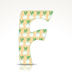 The letter f alphabet made fennel vector
