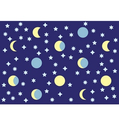 the moon and stars vector image