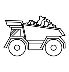 Tipper icon outline style vector