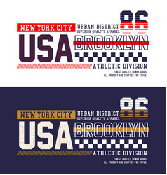 typography brooklyn t-shirt and apparel design vector image