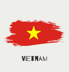 Vietnam watercolor national country flag icon vector