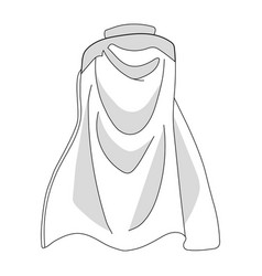 White colorful cloak isolated on white background vector