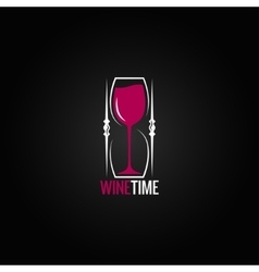 wine glass hourglass concept design background vector image