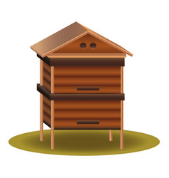 wood beehive icon cartoon style vector image