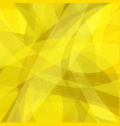 Yellow curved abstract motion background - design vector
