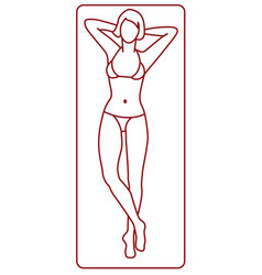 Young woman tanning vector