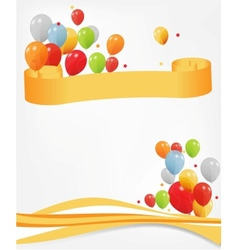 colored ballons header and footer vector image