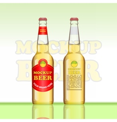 Digital brown beer mockup vector image vector image