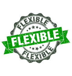 flexible stamp sign seal vector image vector image