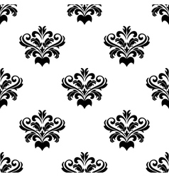 Foliate arabesque pattern for damask vector image vector image