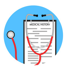 medical diagnostics icon vector image