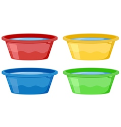 Water tubs vector image