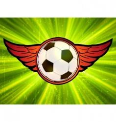 grunge soccer ball vector image vector image