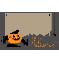 halloween card with space for text vector image vector image