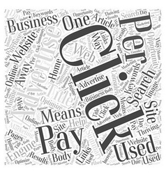 Just One Click Away Word Cloud Concept vector image vector image