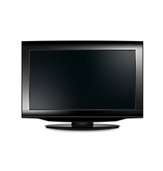 lcd tv realistic vector image