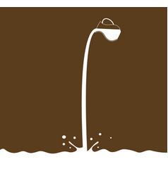 milk flows from jug vector image