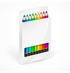 Pencil boxes Color vector image vector image