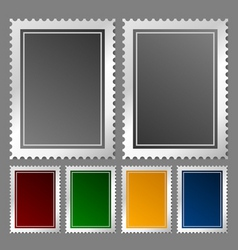 postage stamp template vector image