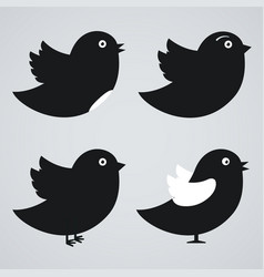 set of birds icons vector image vector image