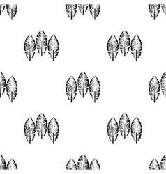 Tribal feathers on white background Feathers vector image vector image
