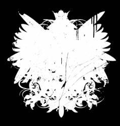 grunge heraldry shape vector image
