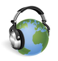 the world listening vector image
