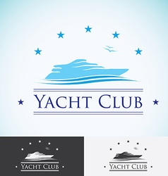 Yacht club logo design template sea cruise vector image