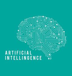 Intelligence artificia brain vector