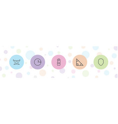 5 hipster icons vector