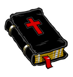 A leather-bound holy bible vector